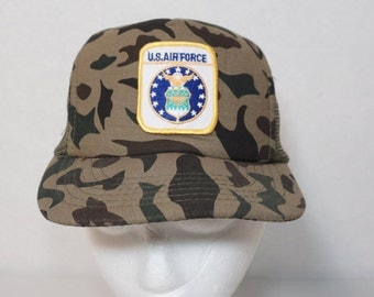 US Airforce Mesh Back Trucker Hat Snapback YOUTH Size Camouflage Camo