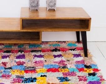 FREE SHIPPING>> Vintage Berber carpet, Moroccan Rug, Boucherouite Rug,Vintage Rug, Moroccan Carpet,Hand Woven Rug, Boho Rug,
