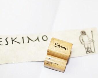 Vintage Rubber Stamp, ESKIMO