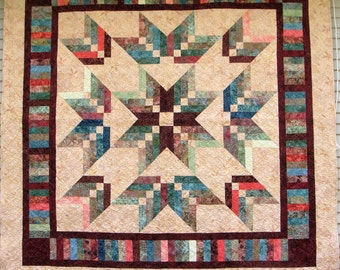 Handmade Queen Quilt - Braided Star