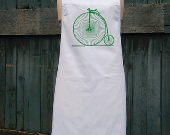 High Wheel Victorian Bicycle Apron