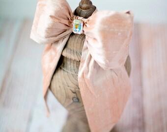 Bella Baby Brulee- Dupioni Silk Bow