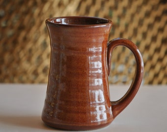 Pottery Mug in Copper 10 ounce