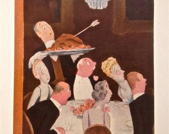 Vintage New Yorker Magazine Cover, 11/26/38