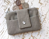 Pocket Sized Coin Purse and Cardholder Wallet in Gray