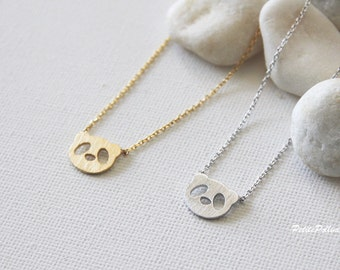 Panda Necklace in Silver/ Gold. Collarbone Necklace. Animal Necklace. China Treasure. Cute Jewelry. Birthday Gift. Gift For Her (PNL-149)