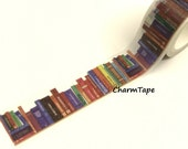 Library Books Washi Tape Roll (20mm x 5m) WT950