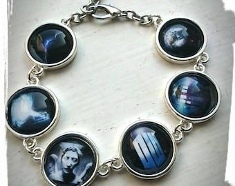 Doctor Who Inspired Glass Tile Bracelet