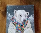 Penwyn Polar Bear | Square Greeting / Christmas Card / blank inside