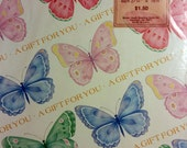 Rainbow Butterflies Gift Wrap