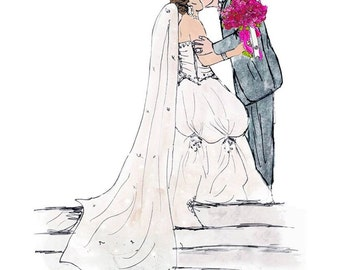 Wedding Gifts For Art Lovers : ... her, quirky artsy wedding gifts for art lovers. Illustrated portraits