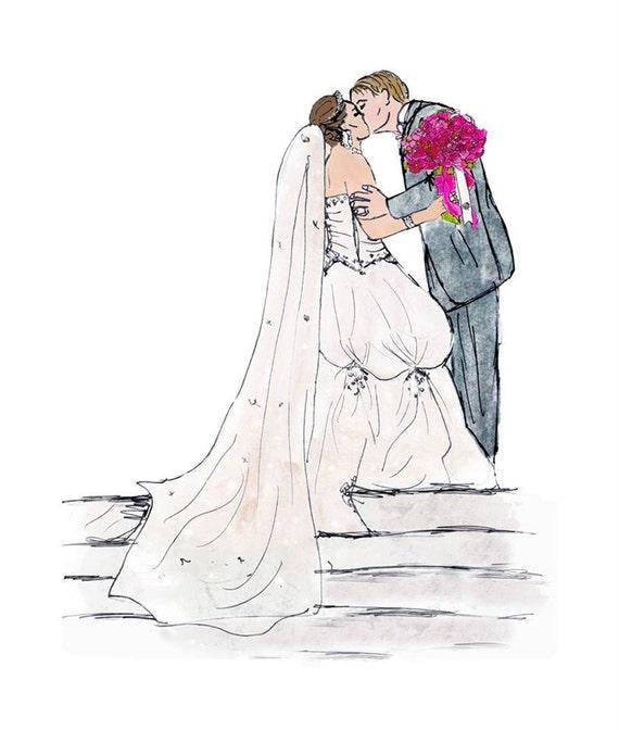 Wedding Gift For Artsy Couple : ... bridal portrait for her, quirky artsy wedding gifts for art lovers