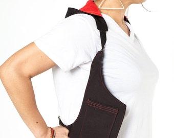 Black Hoodie Holster Vest