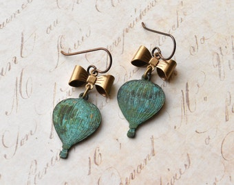 Earrings - Hot Air Balloon - Hypoallergenic - Niobium Earrings - Dangle Earrings - Balloon Jewellery