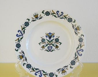 J & G Meakin Side Plate, Vintage Meakin Plate, Mid Century Blue Floral Side Plate, 60's Ceramic Side Plate, Made in England, Ironstone Plate