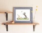Puppy Nursery Art, Nursery Print, Black Lab Art, Golden Retriever Art, Nursery Wall Art, Children's Art, Neutral Nursery, Kids Room Decor