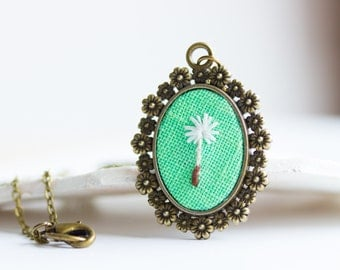 Dandelion seed necklace - Botanical jewelry for romantic girl n071