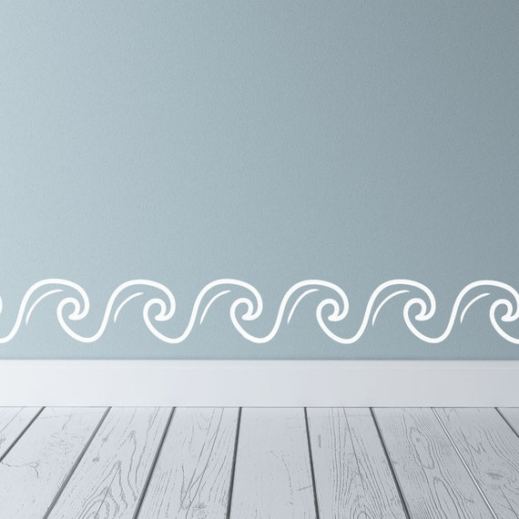 Wave Border Ocean Wall Decals Wave Wall Wave Wall Decal