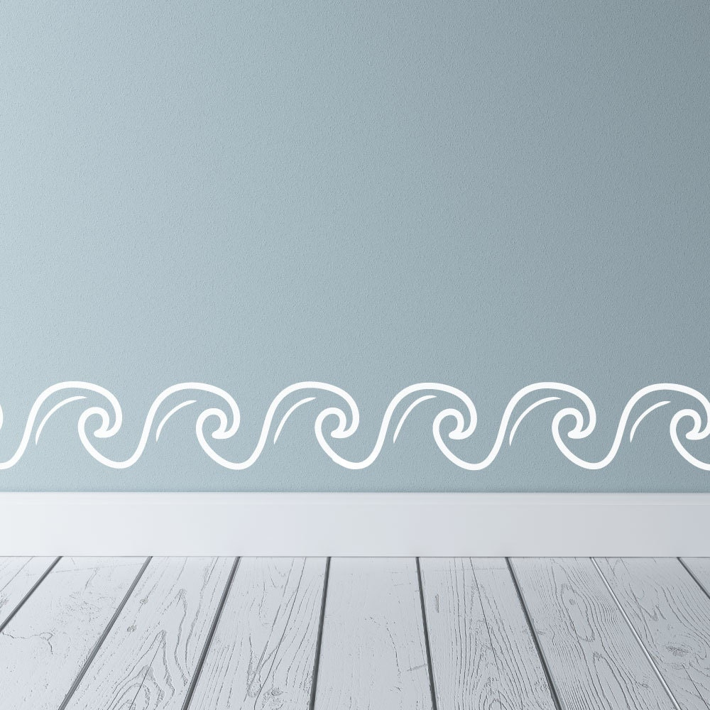 Wave border ocean wall decals wave wall wave wall decal zoom amipublicfo Image collections