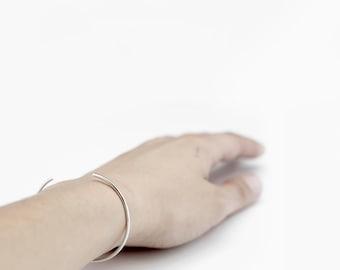 Essential - silver cuff bracelet - minimalist sterling silver cuff bracelet