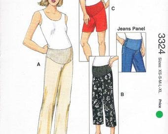 Misses' Maternity Pants, Shorts & Jeans Panel - Kwik Sew Pattern 3324