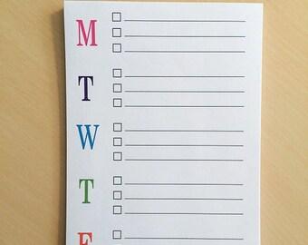 Weekly Calendar, Weekly Planner, Desk Calendar, To Do List Notepad, To Do List Planner, To Do List Pad, To Do List, Teacher Notepad