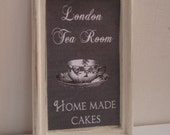 Miniature blackboard tea room