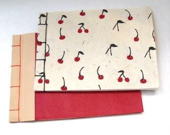 Calligraphy Notebooks, Japanese Stab Stitch Notebook, Cherry Notebook
