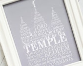 LDS Temple Art, LDS Temple Print, Salt Lake Temple Picture, LDS Printables, Temple Subway Art, I Love to See the Temple - Instant Download