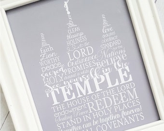 LDS Temple Art, LDS Temple Print, t Lake Temple Picture, LDS Printables, Temple Subway Art, I Love to See the Temple - Instant Download