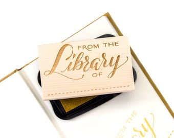 Calligraphy Library Stamp