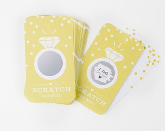 NEW! 24 Scratch-off Cards  // Bridal Shower Game, Scratch-off Game, Bridal Shower Activity, Bachelorette Party Game // Yellow