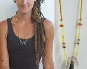 Crystal & Opal - a Powerful Gathering of Stone and Beads - Modern Tribal Necklace Adornment