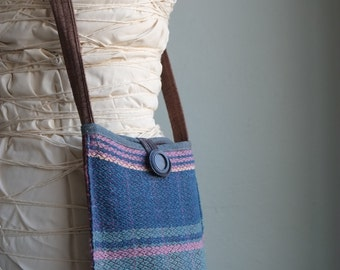 SALE Perfect Pouch - Handwoven Growler Bag - Everyday Crossbody Purse