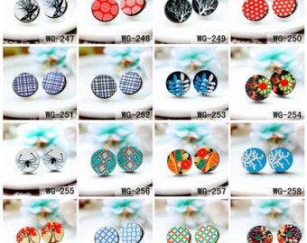 20% off -All Design Unique 3D Embossed 16mm Round Handmade Wood Cut Cabochon to make Rings Earrings Bobby pin Bracelets-(HPP-WG) Part 5