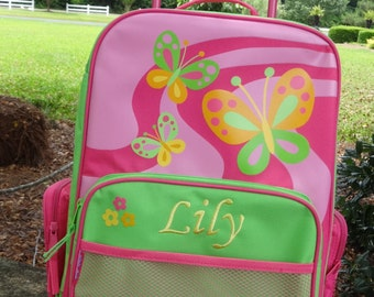 Personalized Stephen Joseph Rolling Luggage-Butterfly