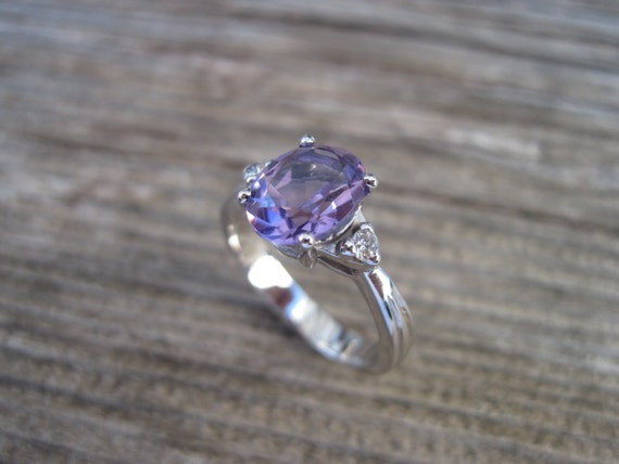 amethyst antique engagement ring antique 18k gold ring by