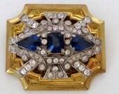Vintage Signed Mc Clelland Barclay Rhinestone Brooch Art Deco Style Elegance