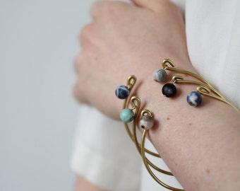 Moon Bracelet Bangle ... Trio Bangles Vintage Gemstone Turquoise