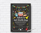 Music Birthday Invitation, kids any age, instruments  Music Party, 1st 2nd 3rd 4th 5th 6th 7th 8th 9th 10th kids party boy or girl, card 564