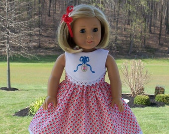 "Summer  2016  Embroidered Dress /  Clothes for American Girl Maryellen, Kit or other 18""  Dolls"