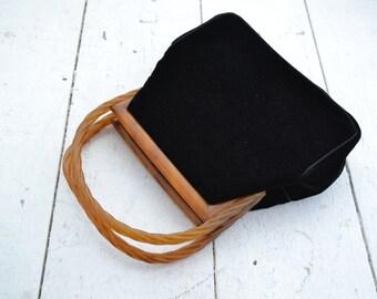 1950s Bobbie Jerome Black Velvet Handbag
