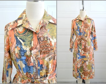 1970s Lanvin Mucha Shirt Dress