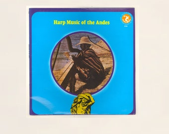 Harp music of the Andes South American Indian Harp Compositions, Olympic Records Atlas Series LP, World Music, Vintage Vinyl Record Album