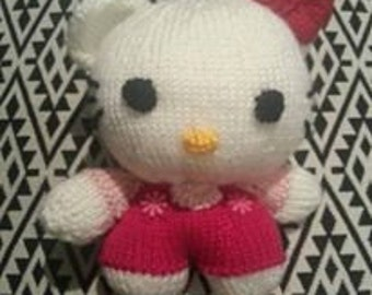 Hello Kitty - Knitted Soft Toy