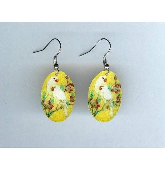 Yellow Birds Earrings