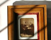 Antique Family  Photo - Portrait - Photography of Creepy Grandparents-Spooky Old Photos-Haunted House Decor