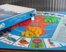 """Vintage """"Airline The Jet Set Game"""" Board Game - 1975 - Game Night - Travel and Adventure - Pilot - Gamma Two Games - Aviation - Captain"""