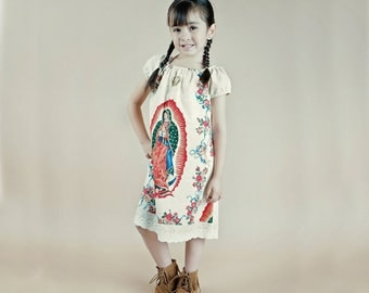 Our Lady of Guadalupe Mexican Dress for girls