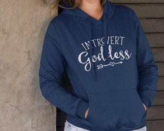 Introvert Hoodie, Introvert Goddess, Introvert Sweater, Introvert Hooded Sweater, Gift for Introvert, Introvert Gift, Introvert Girl
